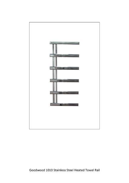 Goodwood 1010 Stainless Steel Heated Towel Rail