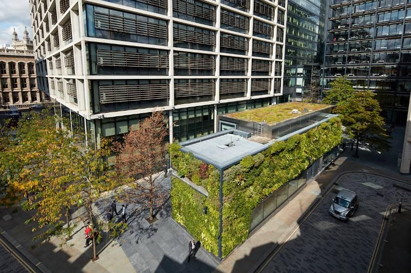 New Street Square Urban Greening Living Wall, Holborn