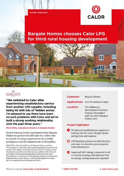 Calor Bargate Homes Case Study