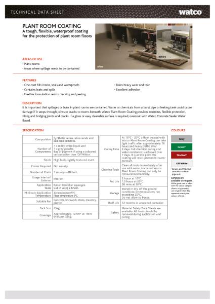 Data Sheet: Plant Room Coating