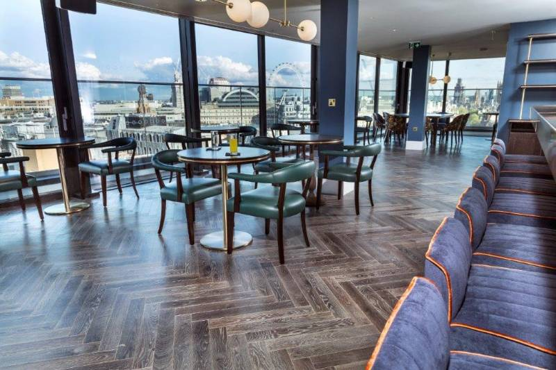 Tough finish for wood floor in rooftop bar