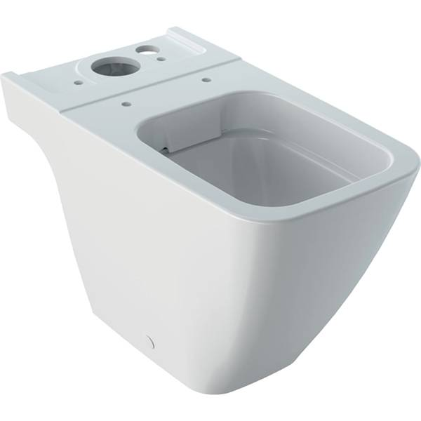 iCon Square floor-standing WC for close-coupled exposed cistern, washdown, shrouded, Rimfree