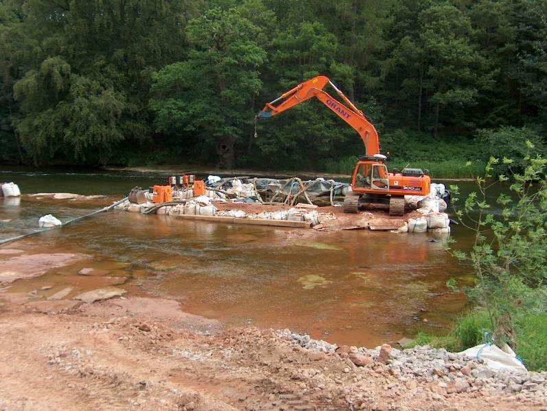 River Eden water intake facility
