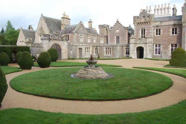 Terrabound Resin Bound surfacing installation at Abbotsford House, Scotland