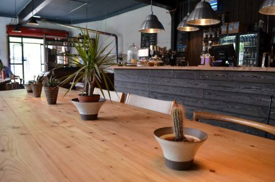 Tongue and groove works a treat for studio-cum-café