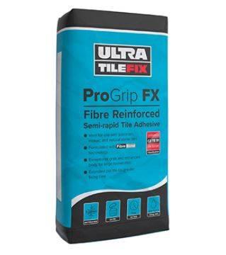 ProGrip FX: Fibre Reinforced Semi-rapid Tile Adhesive