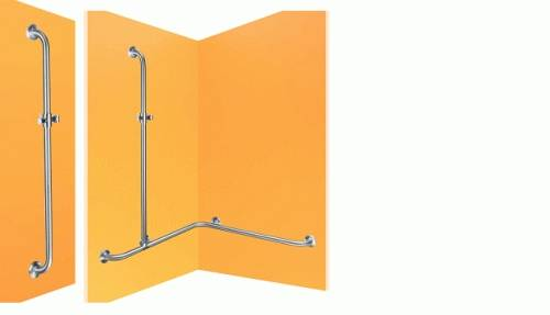 Dolphin Prestige Combined Grab and Shower Rails