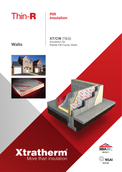 Insulation for Partial Fill Cavity Wall (XT/CW)