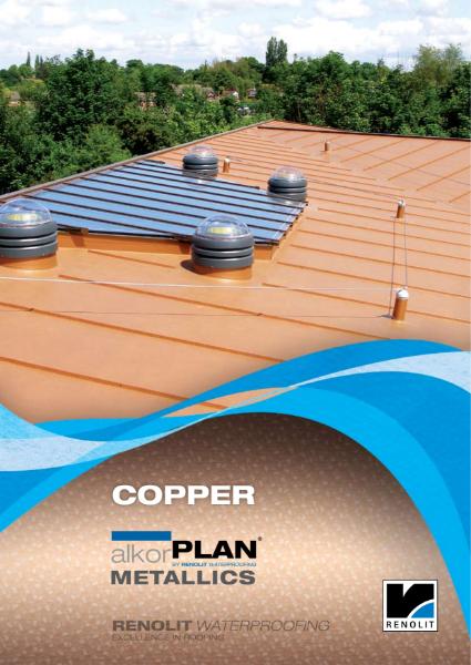 ALKORPLAN waterproofing membrane single ply Metallics - Copper Brown