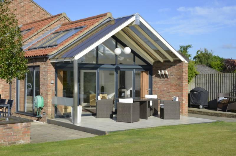 Self-built Yorkshire family home, featuring Reynaers bi-folding aluminium doors