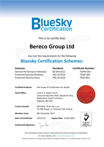 Enhanced Security Windows Certificate