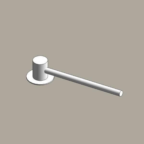 Aluminium column outreach brackets - single arm