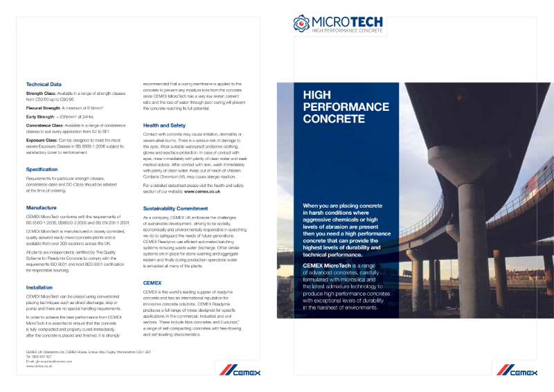 Microtech - High Performance Concrete