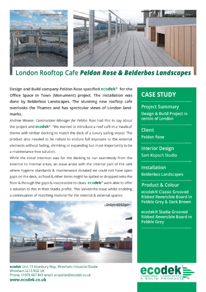 ecodek® Case Study - Office Space in Town, London.