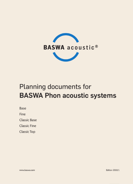 BASWA Planning Document for acoustic plaster ceiling system