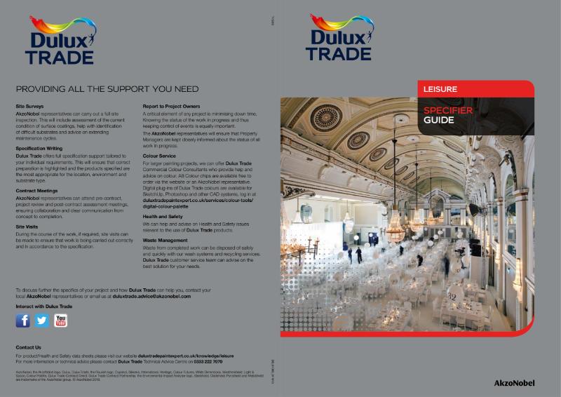 Dulux Trade Leisure Specifier