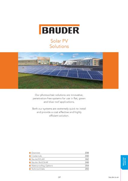 BauderSOLAR PV Systems - Bauder