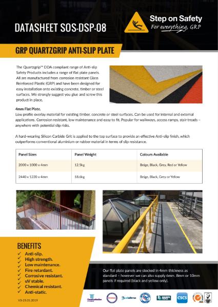GRP Anti Slip Flooring Plate
