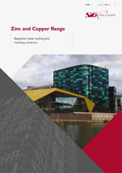 SIG Zinc and Copper metal roofing product brochure