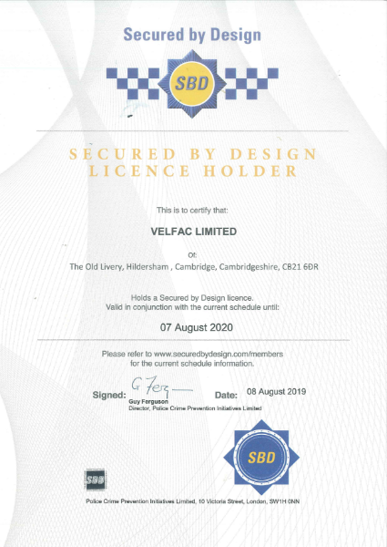 SBD Certificate