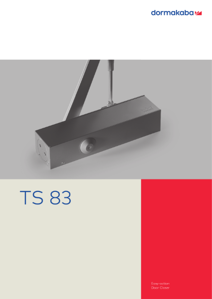 DORMA TS 83 Easy-Action Door Closer