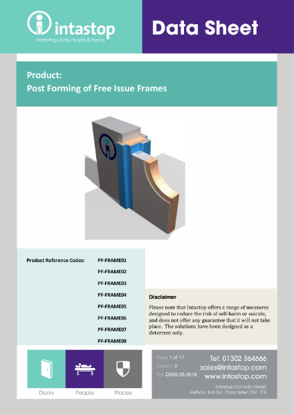 Post-formed Frames Data Sheet