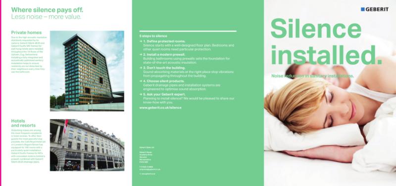 Geberit Silence Installed - Acoustics Brochure