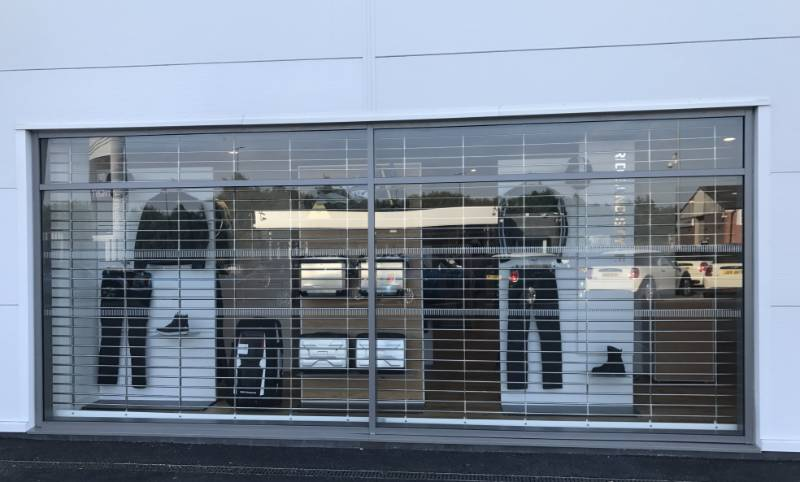 Stainless Steel Grilles at BMW Motorcycle Showroom, Manchester