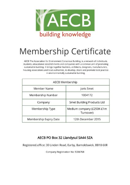 AECB Membership Certificate
