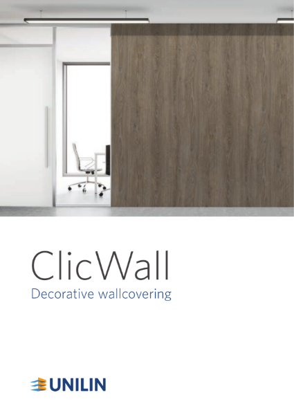 ClicWall decorative wallcovering (HPL/melamine)