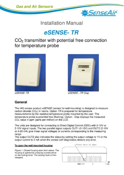 eSense TR Datasheet