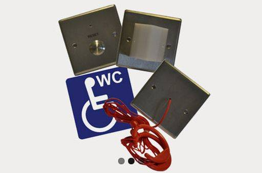 Care 2 Stainless Steel Disabled Toilet Alarm Kit