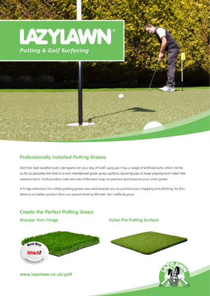 LazyLawn Golf Brochure