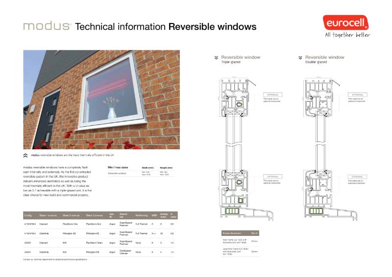 Modus Reversible Windows Technical Information