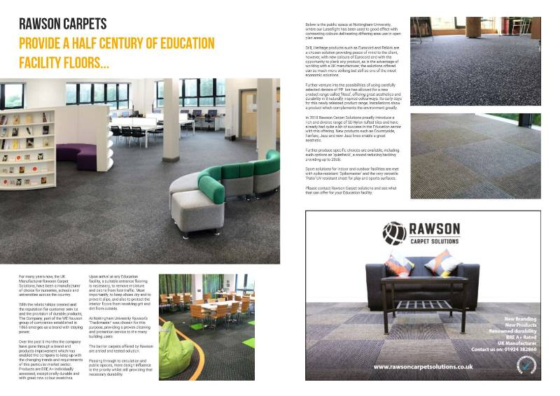 50 Years Supplying Contract Carpet Sheet & Tiles to Schools and Universities