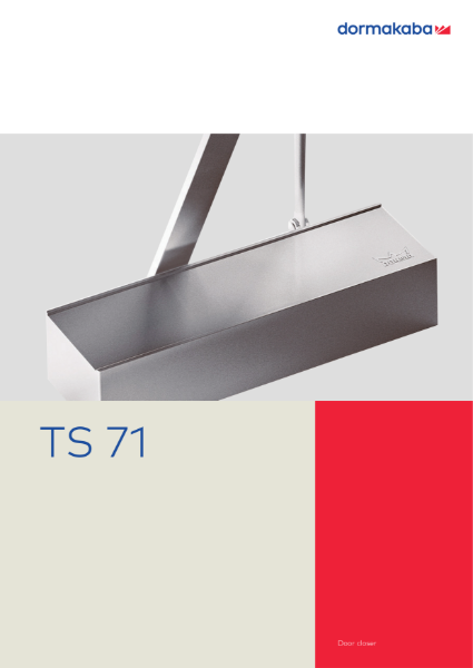 DORMA TS 71 Door closer