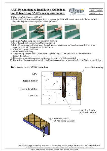 Installation Guidelines for SN9/55 into concrete (Woodscrew)