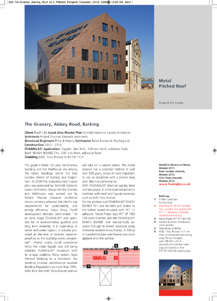Insulating Standing Seam Pitched Roof - Case Study
