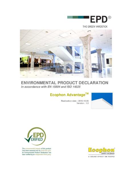 Advantage Environmental Product Declaration