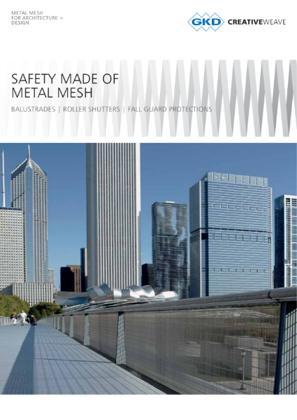 06 - Safety made of metal mesh Systems - GKD Creative Weave - Balustrades, roller shutter and fall guard protections