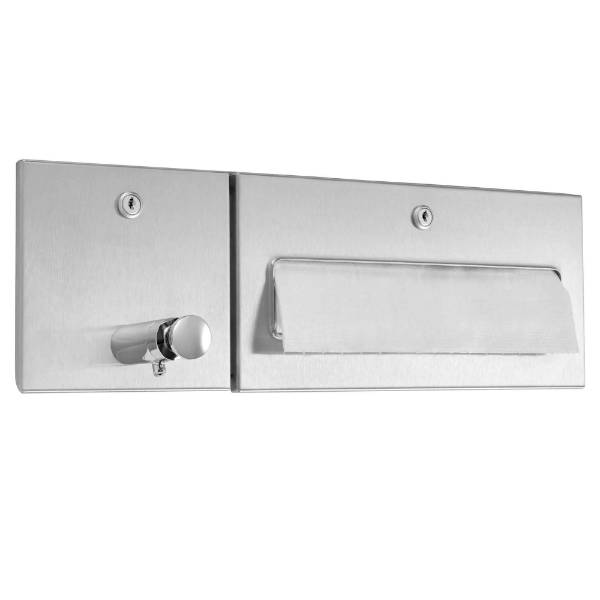 DP4314 Dolphin Prestige Paper Towel Dispenser and Waste Bin Combination Unit