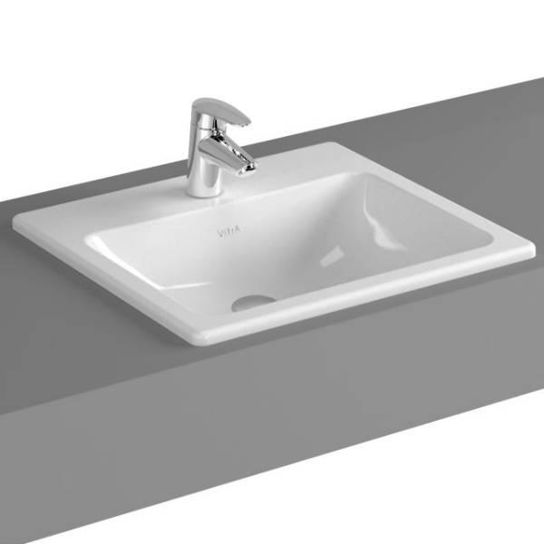 VitrA S20 Counter-top Basin, 50 cm, Square, 5464