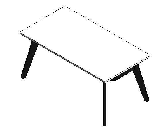 EC4 Single Desk 1600mm