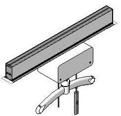 Straight B-Rail System With Hoist