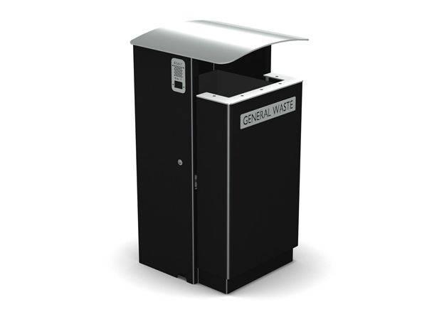 Arca Square Single Sided Litter Bin