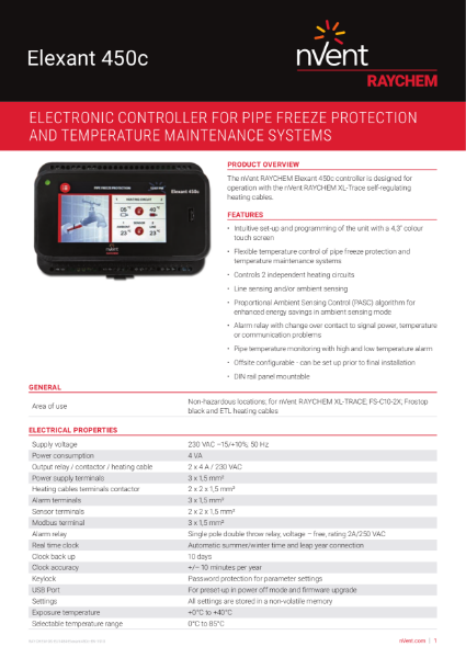 Control & Monitoring Systems - Elexant 450c