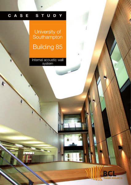 Southampton University - Acoustic Bamboo Wall Panels