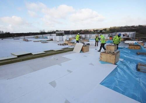 Ballymena Church Roof use Magply in Roof Build-up.
