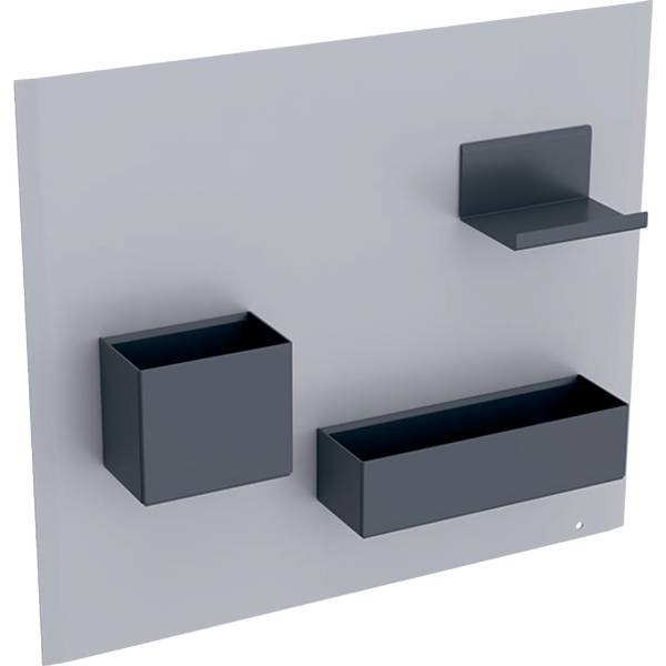 Geberit magnetic board with storage boxes