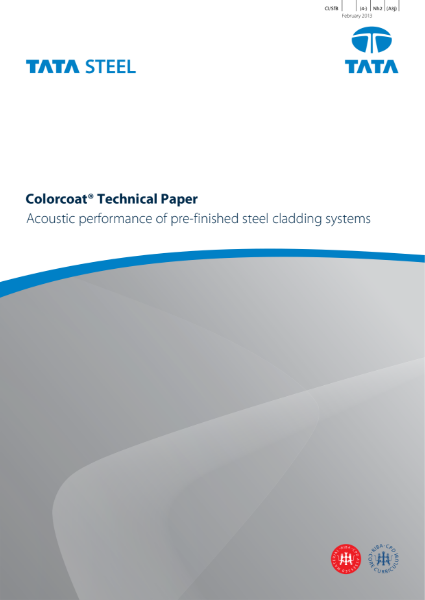 Acoustic performance of pre-finished steel cladding systems